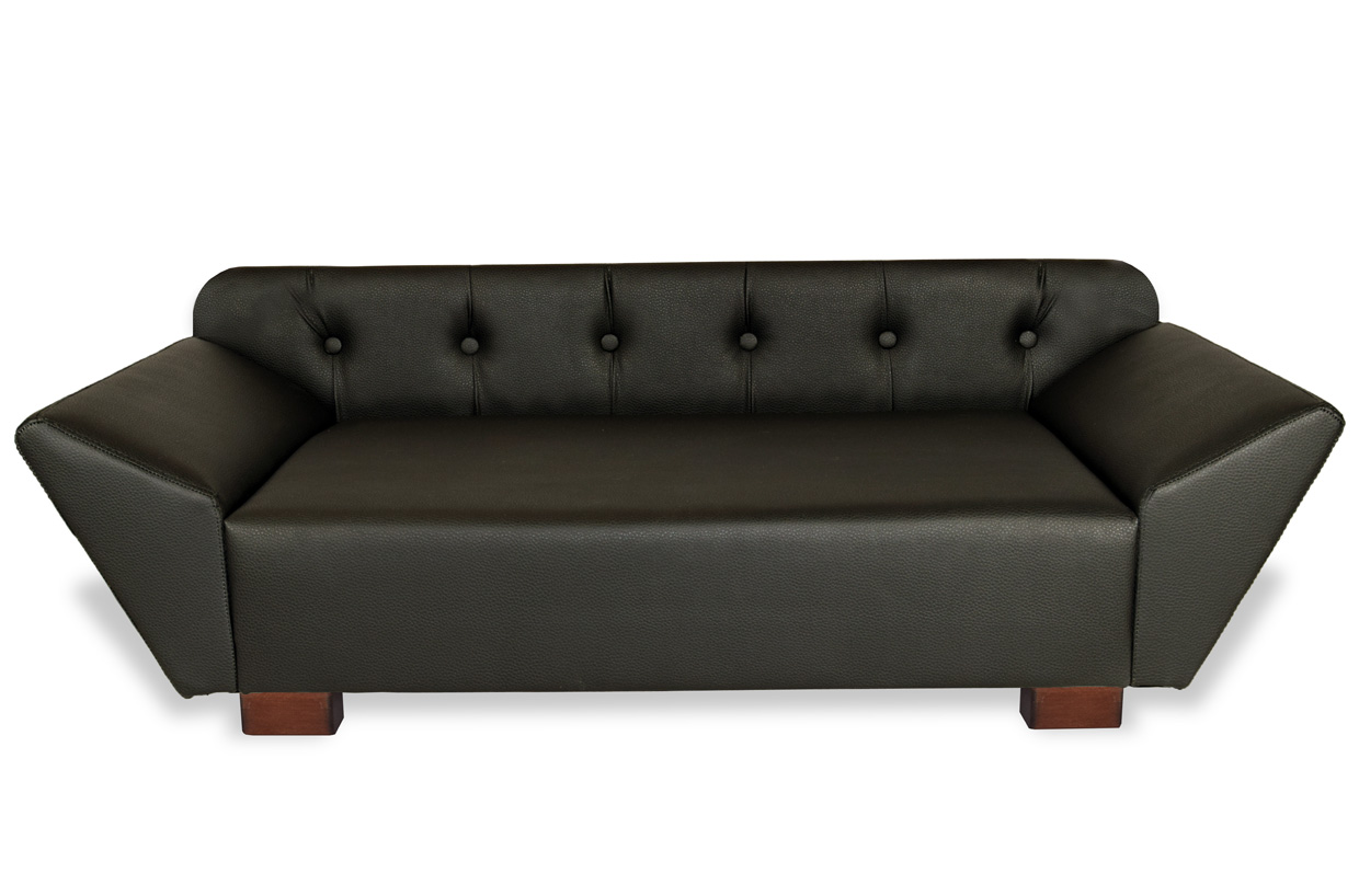 hundesofa hundebett couch sofa bett aus kunstleder edy ecco xl neu ebay. Black Bedroom Furniture Sets. Home Design Ideas