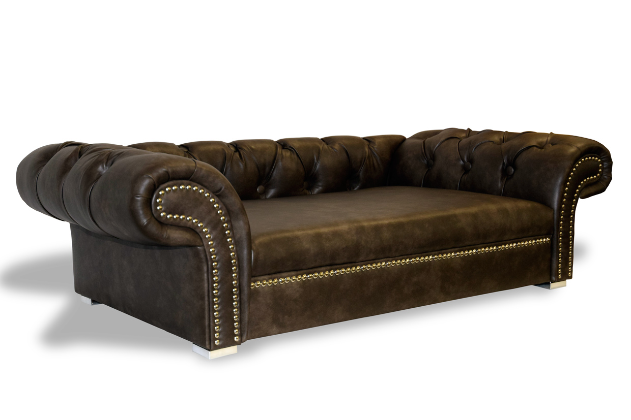 luxury dog sofa dog bed london chesterfield xl handmade in. Black Bedroom Furniture Sets. Home Design Ideas